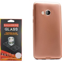 Gpack Htc U Play Kılıf Premier Silikon Case + Kırılmaz Cam