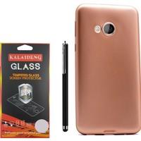 Gpack Htc U Play Kılıf Premier Silikon Case +Kalem + Kırılmaz Cam