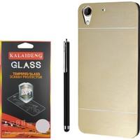 Gpack Htc Desire 828 Kılıf Sert Arka Kapak Motomo Case +Kalem +Kırılmaz Cam