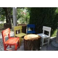 Baskaya Ahşap ,Renkli Çocuk Sandalyesi Ana Okullarına Uygun...Beyaz..