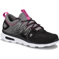Kinetix Duson W Siyah Gri Koyu Pembe Kadın Yürüyüş Ayakkabısı