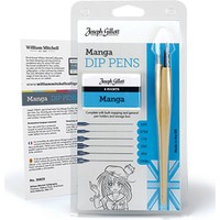 William Mitchell Manga Dip Pens Set 6 Karışık Uç Ve 2 Tarama Sapı