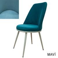 Beste Kumaş Mutfak Sandalyesi Mavi