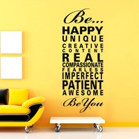 Be Happy Duvar Sticker