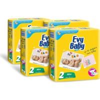 Evy Baby Bebek Bezi Kremli Jumbo Paket 78 Adet Mini 4'Lü Set