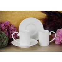 2,Li Turk Kahvesı Fıncan Setı Beyaz
