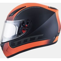 MT Kask MT Revenge Binomy Gloss Black/White/Fluor Orange FF