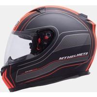 MT Kask MT Blade SV Raceline Matt Black/Ornage Full Face Güneş Vizörlü