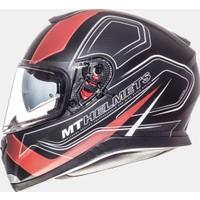 MT Kask MT Thunder 3 Trace Matt Black/Red Full Face Güneş Vizörü