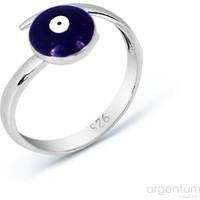 Argentum Concept Nazar Boncuklu Gümüş Ayarlanabilir Yüzük