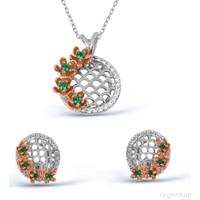 Argentum Concept Çiçek Motifli Gümüş Set