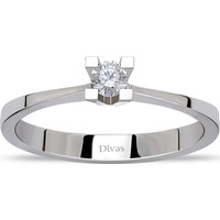 Divas Love 0,10 ct Pırlanta Tektaş Yüzük (Altın)