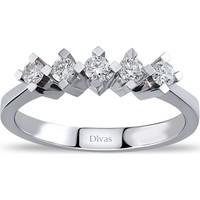 Divas Love 0,25 Karat Pırlanta 5 taş Yüzük