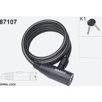Zhonglı 12X1000 mm Anahtarlı Spıral Kilit 87107