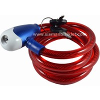 Zhonglı Anahtarlı Çelik Kilit 12X1200 mm / Kırmızı