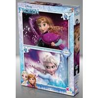 KS Games Frozen 35+60 Parça Çocuk Puzzle