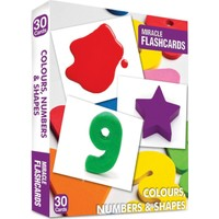 Miracle Flashcards: Colours, Numbers&Shapes 30 Cards