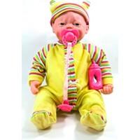 Emre Toys Gerçek Yüzlü Mimikli Pıtırcık Bebek - Sarı Elbiseli