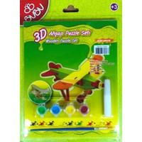 Bubu 3D Boyama + Puzzle Seti (Uçak)