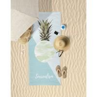Beechbird PineApple ( Ananas ) Kamuflaj Desenli Özel Tasarım Unisex Plaj Havlusu