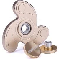 Metal Stres Çarkı Gun Find Spinner Pro Spinner Pervane Taşıma Çantalı Gold