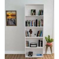Hepsiburada Home 5 Raflı Kitaplık Beyaz
