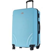 TUTQN Kırılmaz Plastik Bavul Büyük Boy Valiz %100 PP Turkuaz