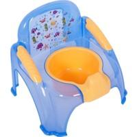 Sevi Bebe Sandalye Lazımlık Şeffaf Desenli Mavi