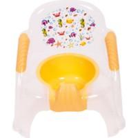 Sevi Bebe Sandalye Lazımlık Şeffaf Desenli Beyaz