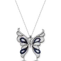 Alışverişrengi Kelebek Gümüş Kolye