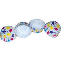 Renkli Balonlar Fırfırlı Kek Kapsülü (100 Adet)