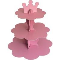 Pembe Karton Cupcake Standı (30 x 35 cm)