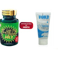 V-Pills Gold + V-Pills Kayganlaştırıcı Jel