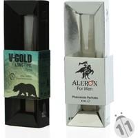 V-Gold Long Time Sprey 10 Ml Ve Aleron Parfüm 10 Ml