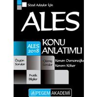 Pegem Yayınları 2018 ALES Sözel Adaylar İçin Konu Anlatımlı