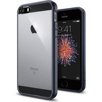 Spigen Apple iPhone Se/5S/5 Kılıf Ultra Hybrid Metal Slate