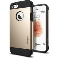 Spigen Apple iPhone Se/5S/5 Kılıf Tough Armor Champagne Gold Darbelere Karşı Koruma