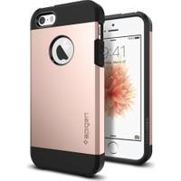Spigen Apple iPhone Se/5S/5 Kılıf Tough Armor Rose Gold Darbelere Karşı Koruma