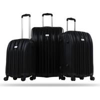 Noble Wınd Lıne Kırılmaz 8 Tekerlekli Üçlü Valiz Seti Siyah Rzn001
