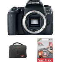 Canon EOS 77D Body + Hafıza Kartı + Çanta