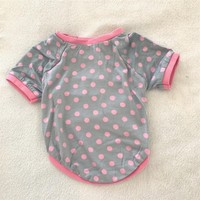 Kemique Mini Dots- Oval Yaka Tişört - Summer Köpek Elbisesi