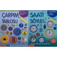 Parıltı Yayınları Çarpım Tablosu - Saati Söyle (2 Kitap) + Poster - Çıkartmalı