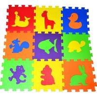 Direkstoktan Eva Puzzle Oyun Karosu 9 Parça Yer Halısı 33 cm x 33 cm Hayvanlar Temalı