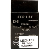 Lexmark 100 Siyah (Kutusuz !) Orjinal Kartuş