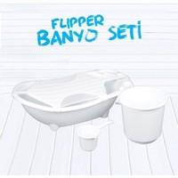 Flipper Bebek Banyo Küvet Seti - 4'lü Küvet Seti