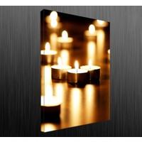 Duvar Tasarım DLC 1063 Candle Led Canvas Tablo - 70x50 cm