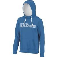 Wilson Script Cotton Po Hoody Kapişonlu Sweatshirt - Deep Water/Beyaz (XL) ( WRA747901XL )