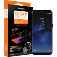 Spigen Samsung Galaxy S8 Kavisli Tam Kaplayan Ekran Koruyucu Curved Crystal HD (2 Adet) - 565FL21702