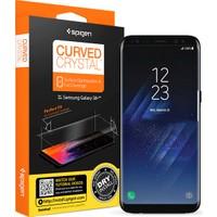 Spigen Samsung Galaxy S8 Plus Kavisli Tam Kaplayan Ekran Koruyucu Curved Crystal HD (2 Adet) - 571FL21707