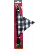 Eastland Fularlı Kedi Boyun Tasması 10mm*30 cm Siyah